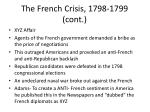 the french crisis 1798 1799 cont