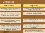 persuasion vs argument differences