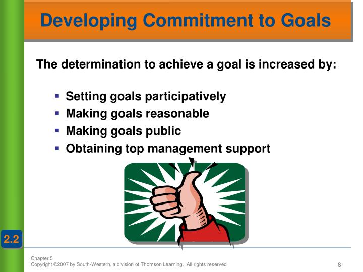 Developing Commitment to Goals