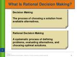 what is rational decision making
