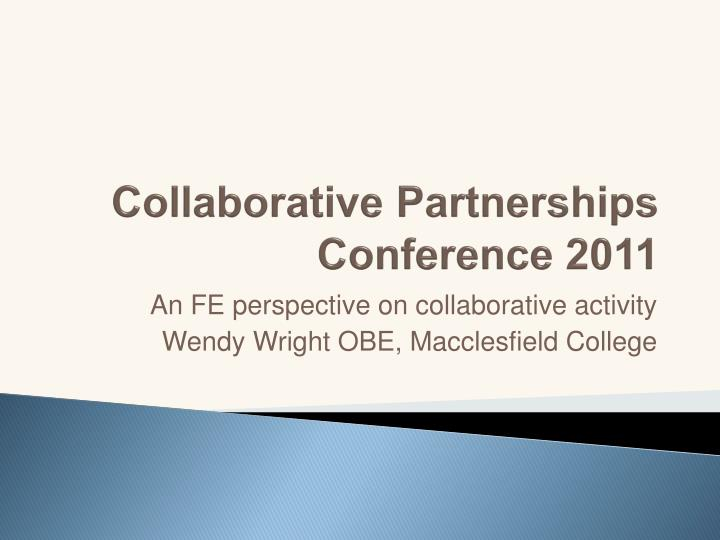 collaborative partnerships conference 2011 n.