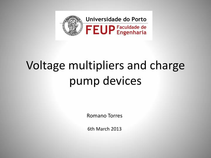 voltage multipliers and charge pump devices n.