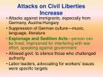 attacks on civil liberties increase