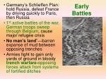 early battles
