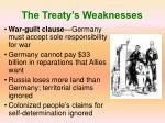 the treaty s weaknesses