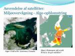 anvendelse af satellitter milj overv gning alge opblomstring
