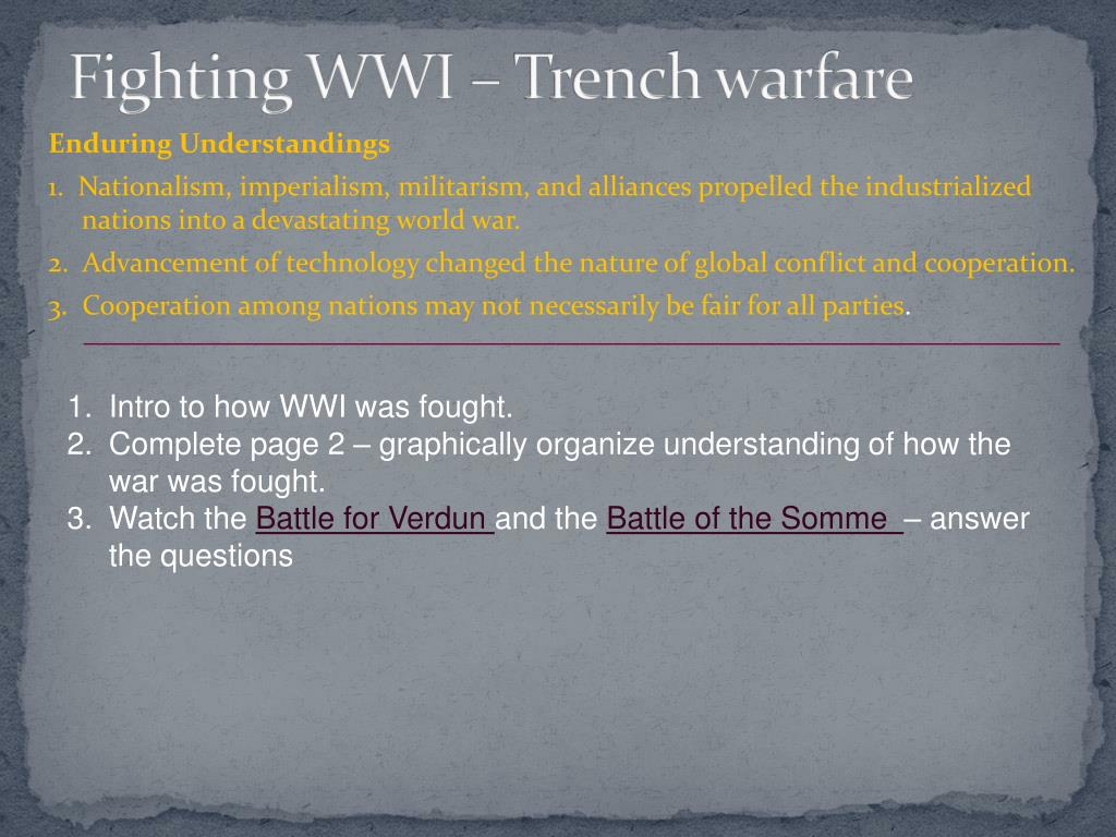 Ppt Fighting Wwi Trench Warfare Powerpoint Presentation Id2253529 Diagram N