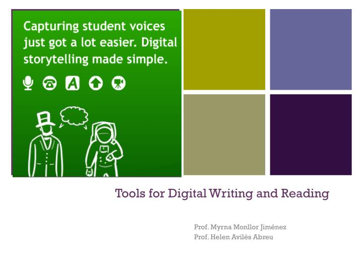 tools for digital writing and reading n.