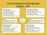 the constitution of the german empire 1871