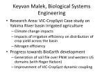 keyvan malek biological systems engineering