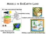 models in bioearth land