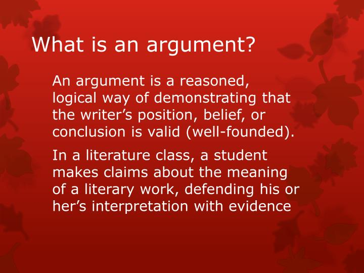 what is an argument n.
