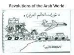 revolutions of the arab world