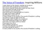 the voice of freedom inspiring millions