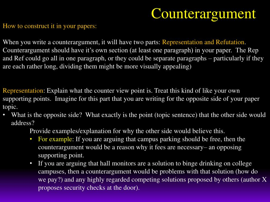 PPT   Counterargument PowerPoint Presentation, free download   ID ...