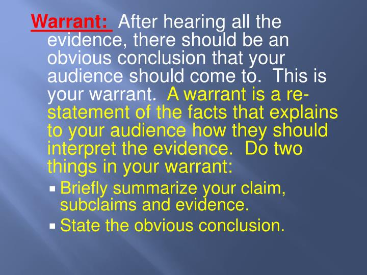 Warrant: