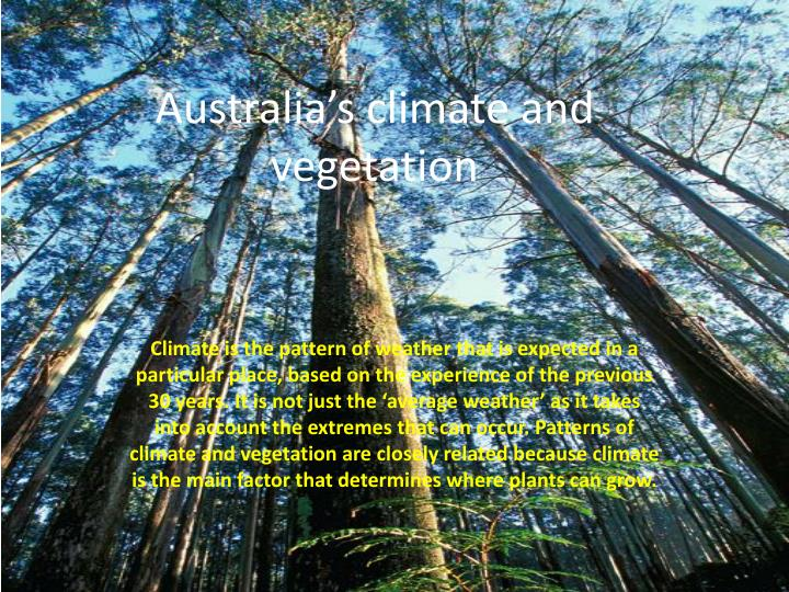 australia s climate and vegetation n.