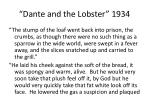 dante and the lobster 1934