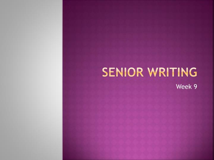 senior writing n.