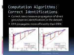 computation algorithms correct identifications