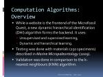 computation algorithms overview