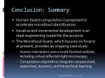 conclusion summary