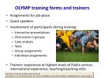 olymp training forms and trainers