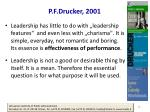 p f drucker 2001