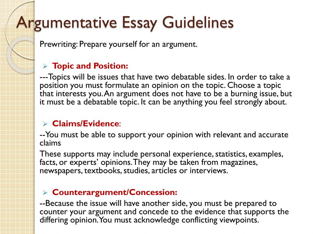 Guideline paper research