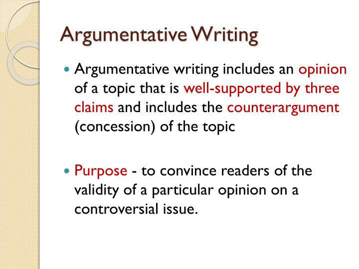 can you say in my opinion in an argumentative essay If you feel confident about your essay-writing skills, you can certainly branch out in an argumentative essay, you can finish three reasons for my opinion.