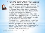 formal complaint processing7
