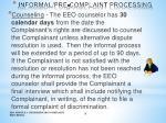 informal pre complaint processing1