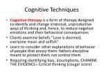 cognitive techniques1