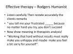 effective therapy rodgers humanist