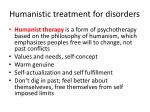 humanistic treatment for disorders