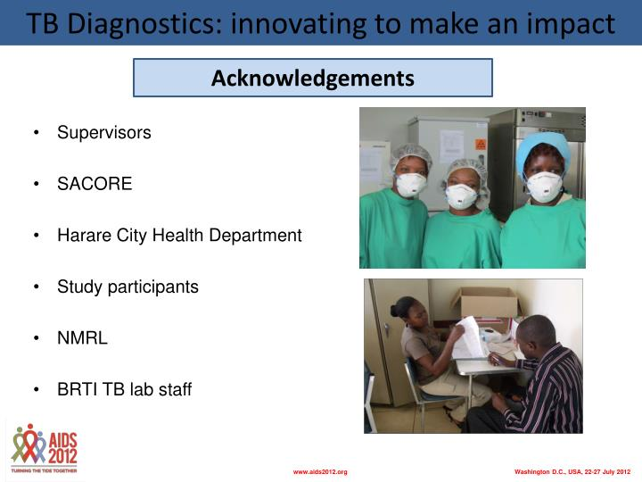 TB Diagnostics: innovating to make an impact
