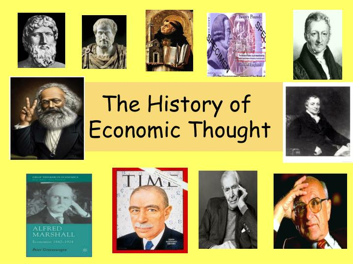 the history of economic thought n.