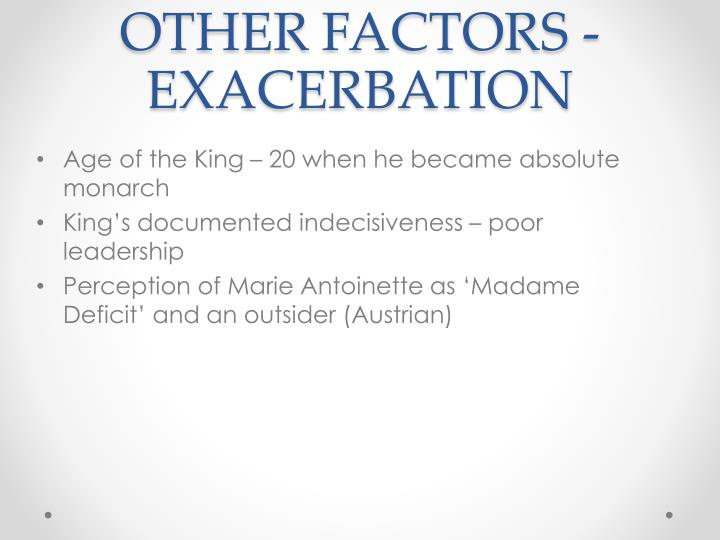 OTHER FACTORS - EXACERBATION