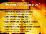 heavenly counselor