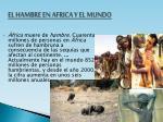 el hambre en africa y el mundo
