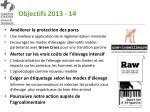 objectifs 2013 14