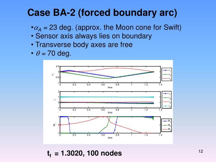 Case BA-2 (forced boundary arc)