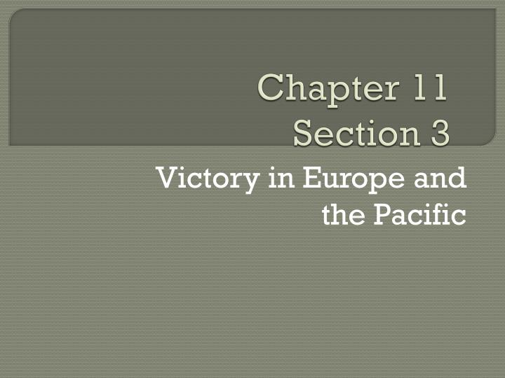 chapter 11 section 3 n.