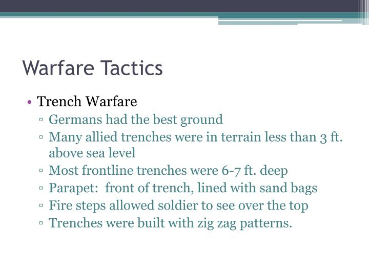 Warfare Tactics