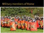 military members of rome