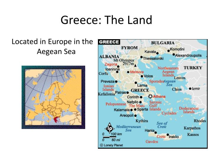 greece the land n.