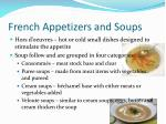 french appetizers and soups
