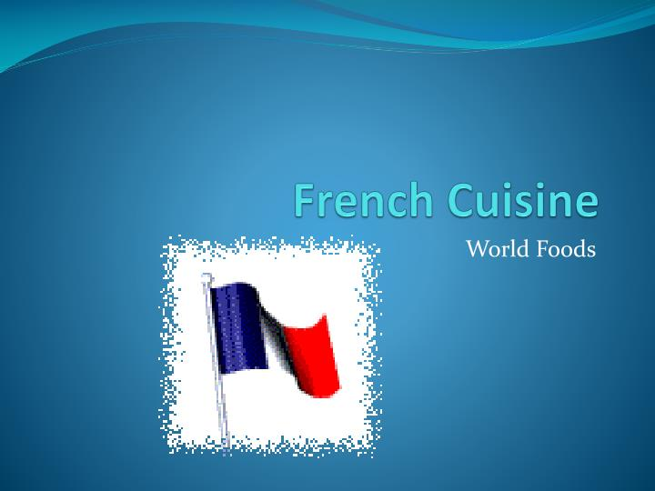 french cuisine n.