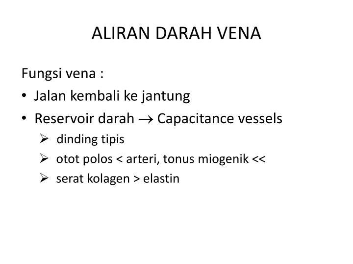 ALIRAN DARAH VENA