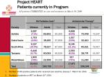 project heart patients currently in program